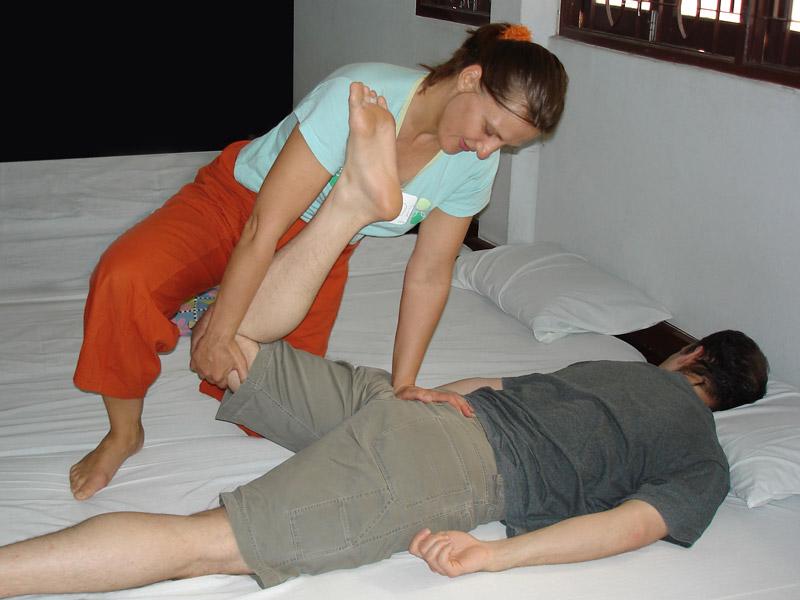 Foto einer Thaimassage